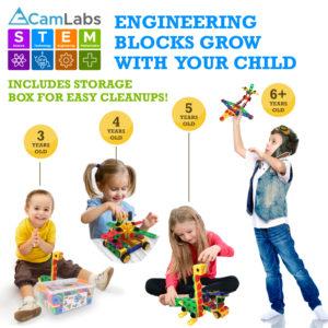 STEM Learning Toy Construction Blocks Set for Boys & Girls Ages 3-7 - B07J581YV9-5